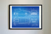 Ford Mustang NASCAR (2019) da Vinci Sketch Art Print Blueprint