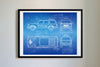 Ford Explorer Jurassic Park (1993) da Vinci Sketch Art Print Blueprint