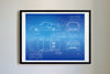 Toyota MR2 (1989) da Vinci Sketch Art Print Blueprint