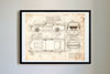 Ford Mustang Shelby GT500 Eleanor (1967) da Vinci Sketch Art Print Vintage