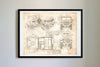 Jeep Willy (1942) da Vinci Sketch Art Print Vintage