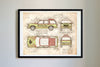 Ford Explorer Jurassic Park (1993) da Vinci Sketch Art Print Vintage Color