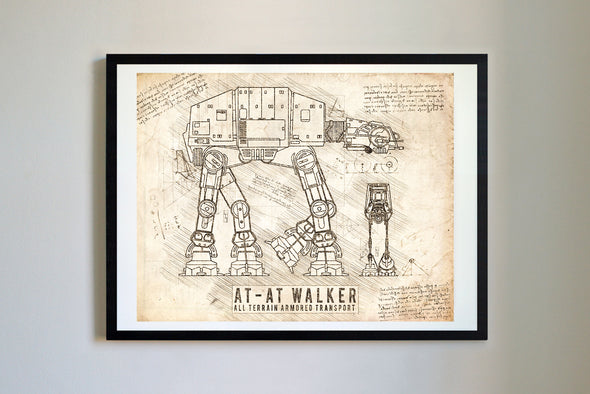 StarWars AT-AT Art Print Vintage