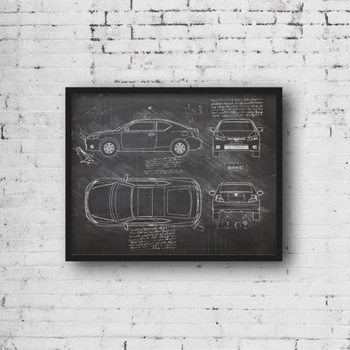 Scion tC (2011-13) da Vinci Sketch Art Print (#999)