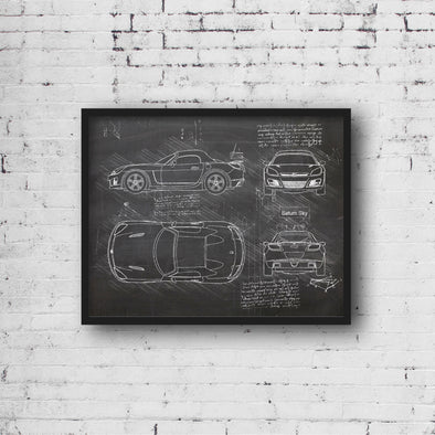 Saturn Sky (2006-09) da Vinci Sketch Art Print (#998)