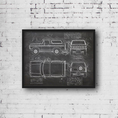 Ford Bronco (1978-79) da Vinci Sketch Art Print (#964)