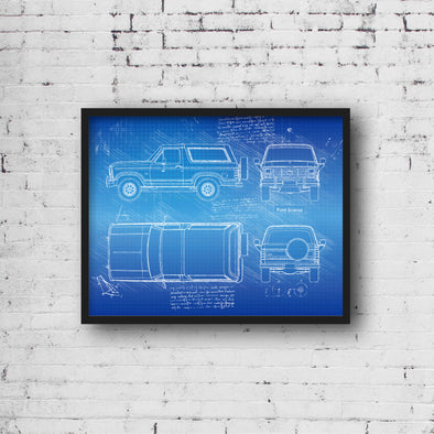 Ford Bronco (1980-86) da Vinci Sketch Art Print (#965)