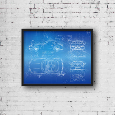BMW Z4 M Roadster E85 (2006-08) da Vinci Sketch Art Print (#924)