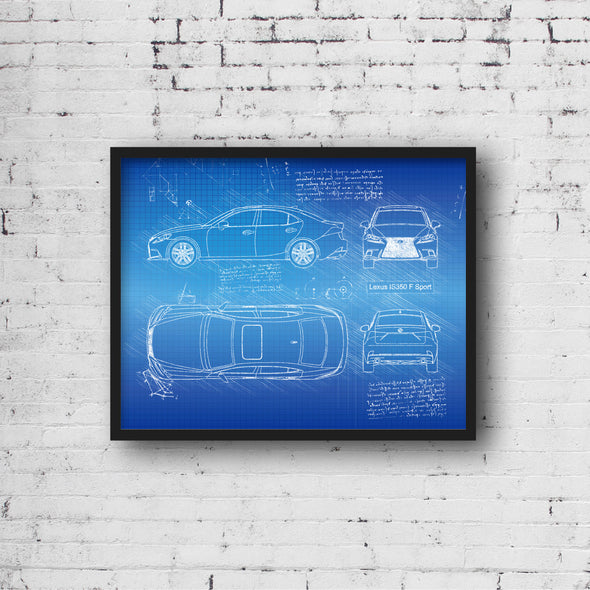 Lexus IS350 F Sport (2014-Present) da Vinci Sketch Art Print (#860)