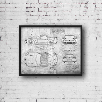 Saturn Sky Red Line (2006-09) da Vinci Sketch Art Print (#868)