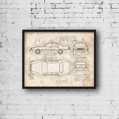 Ford Crown Victoria (1998-12) da Vinci Sketch Art Print (#888)