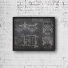 Willys MB (1942) da Vinci Sketch Art Print Blackboard