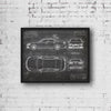 Audi S6 Sedan (2012) da Vinci Sketch Art Print Blackboard