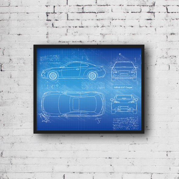 Infiniti G37 (2007-15) da Vinci Sketch Art Print Blueprint