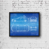 Audi S6 Sedan (2012) da Vinci Sketch Art Print Blueprint