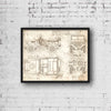 Willys MB (1942) da Vinci Sketch Art Print Vintage