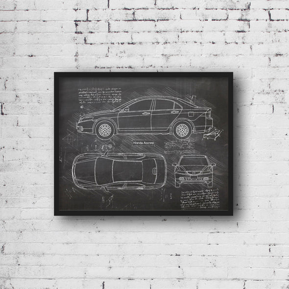 Honda Accord (2003-07) da Vinci Sketch Art Print (#544)