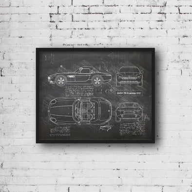BMW Z8 Roadster E52 (1999-03) da Vinci Sketch Art Print (#776)