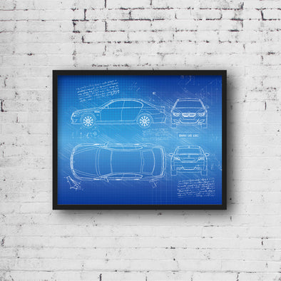 BMW M5 Sedan E60 (2005-10) da Vinci Sketch Art Print (#404)