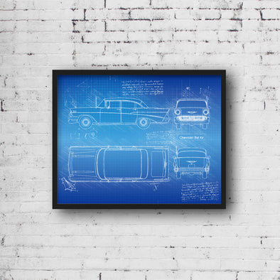 Chevrolet Bel Air 4-Door Sedan (1957) da Vinci Sketch Art Print (#669)