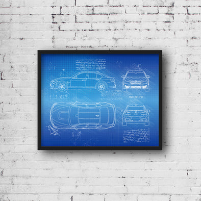 BMW M3 F80 (2014-18) da Vinci Sketch Art Print (#413)