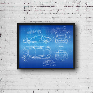 BMW i8 (2013) da Vinci Sketch Art Print (#409)