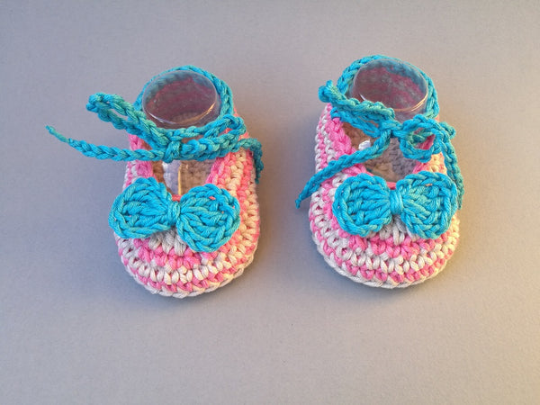 Crochet baby shoes, newborn booties, zebra moccasins