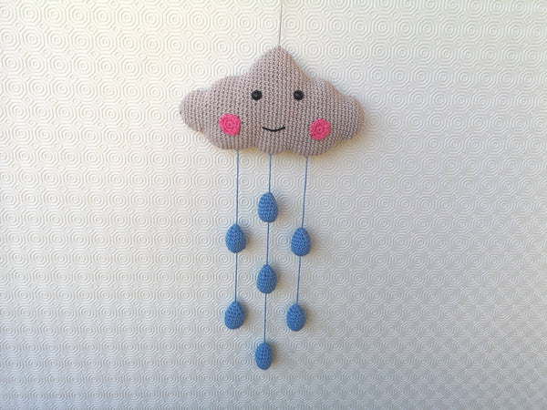Crochet Cloud PATTERN, Cloud Wall Hanging, Cloud baby Mobile