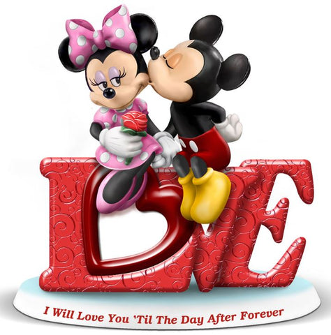 Mickey And Minnie Love Figurine