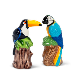 Toucan & Parrot Salt & Pepper
