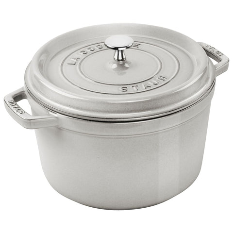 Staub Specialities 4.75 l Cast Iron Round Cocotte, White Truffle