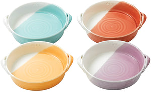 "1815 Bright Mixed Patterns 7.2"" Serving Dish Set, Multi-Colored"