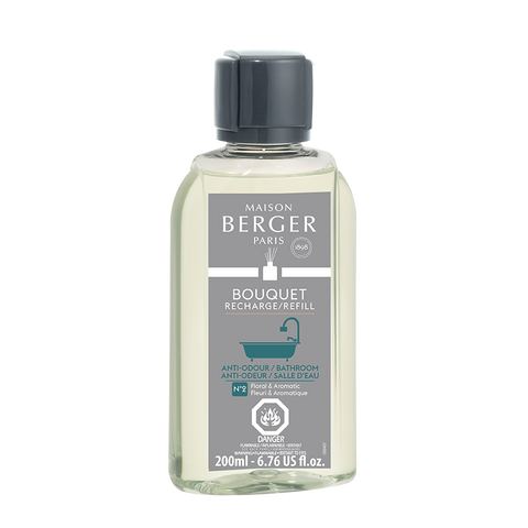 Maison Berger Anti-Odor Bathroom Floral & Aromatic Reed Diffuser Fragrance