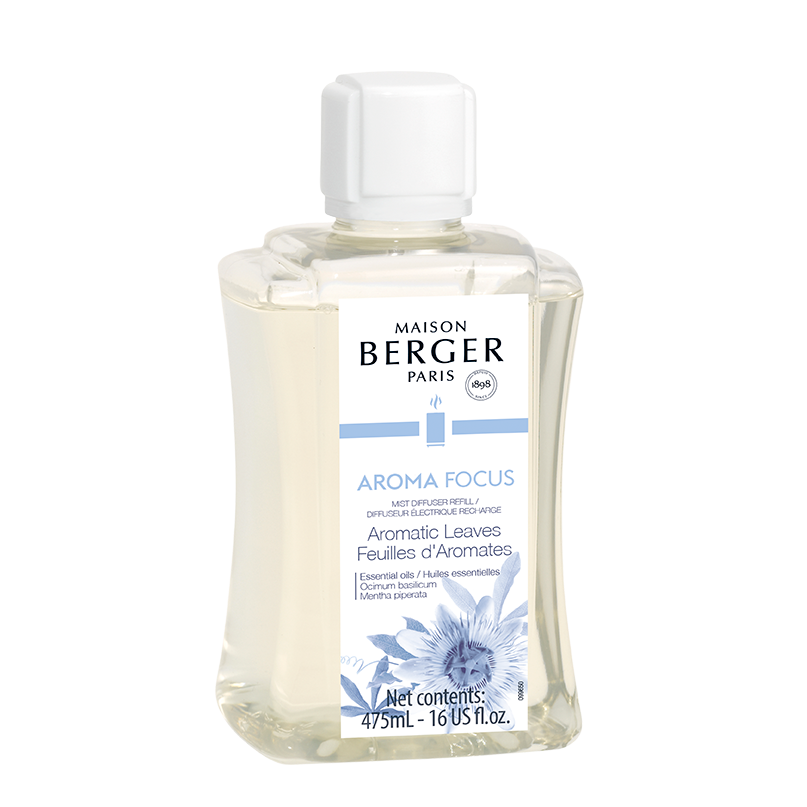 Maison Berger Aroma Focus Mist Diffuser Fragrance- Aromatic Leaves 475ml