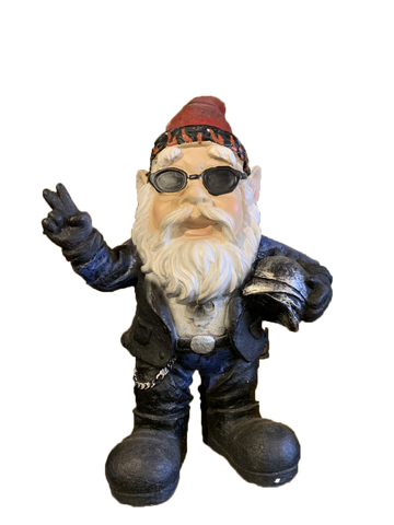 Gnome Biker w/ Sunglasses and Helmet