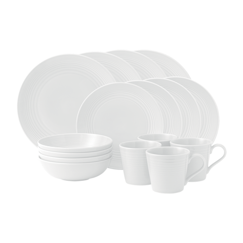 Maze White 16 Piece Dinner Set