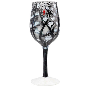 """Chill in the Air"" Wine Glass by Lolita"