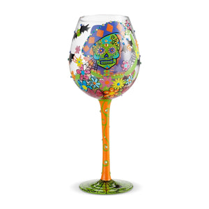 Wine Glass Bling Sugar Skulls