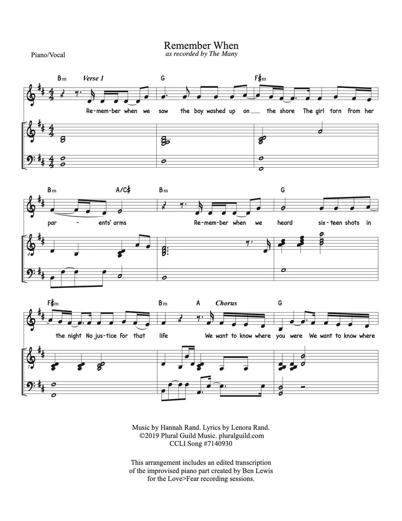 Remember When - Sheet Music & Song Download