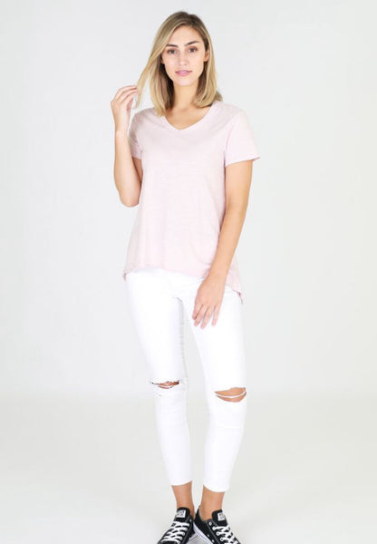 THORNTON TEE -BLUSH MARLE
