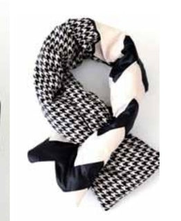 PUFFER HOUNDSTOOTH NECK WARMER