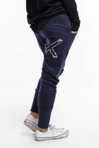 APARTMENT PANTS - NAVY w X OUTLINE