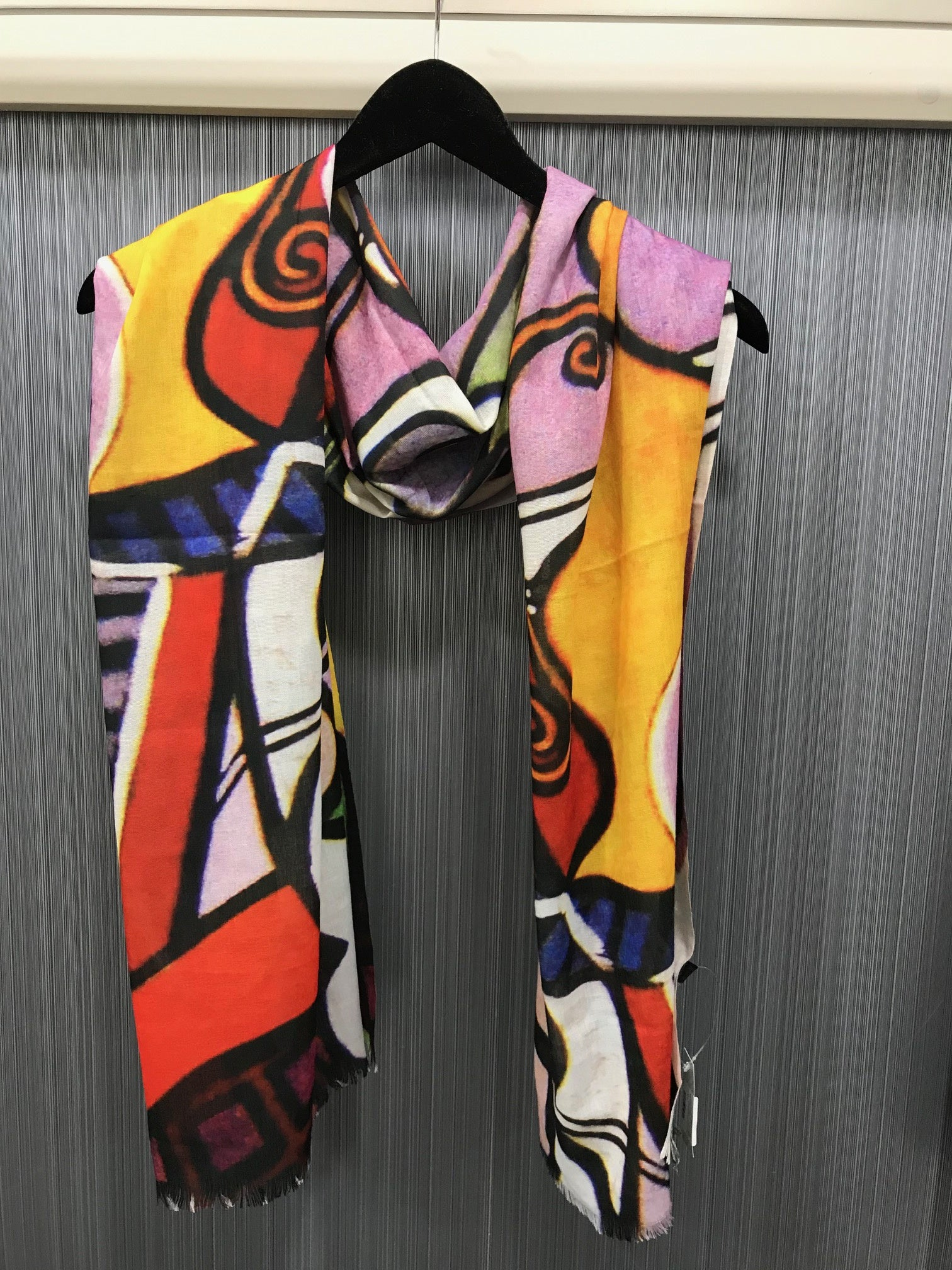 'PICASSO'INSPIRED ABSTRACT PRINT SCARF