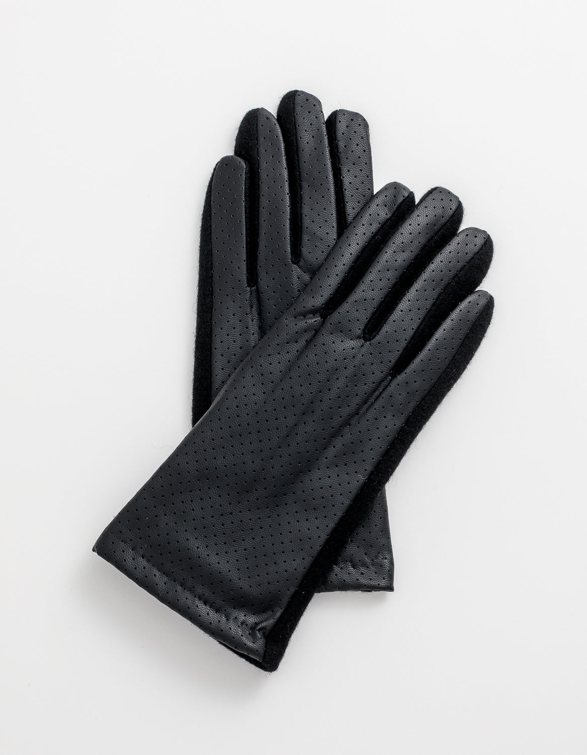 PU LEATHER DOTS GLOVE
