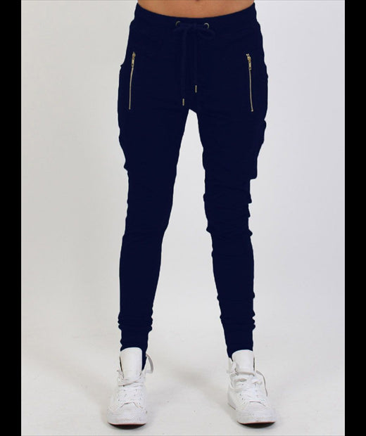 ESCAPE TRACKIE - NAVY/GOLD ZIPS
