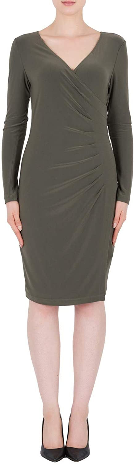 OLIVE  RUCHED L/S  DRESS