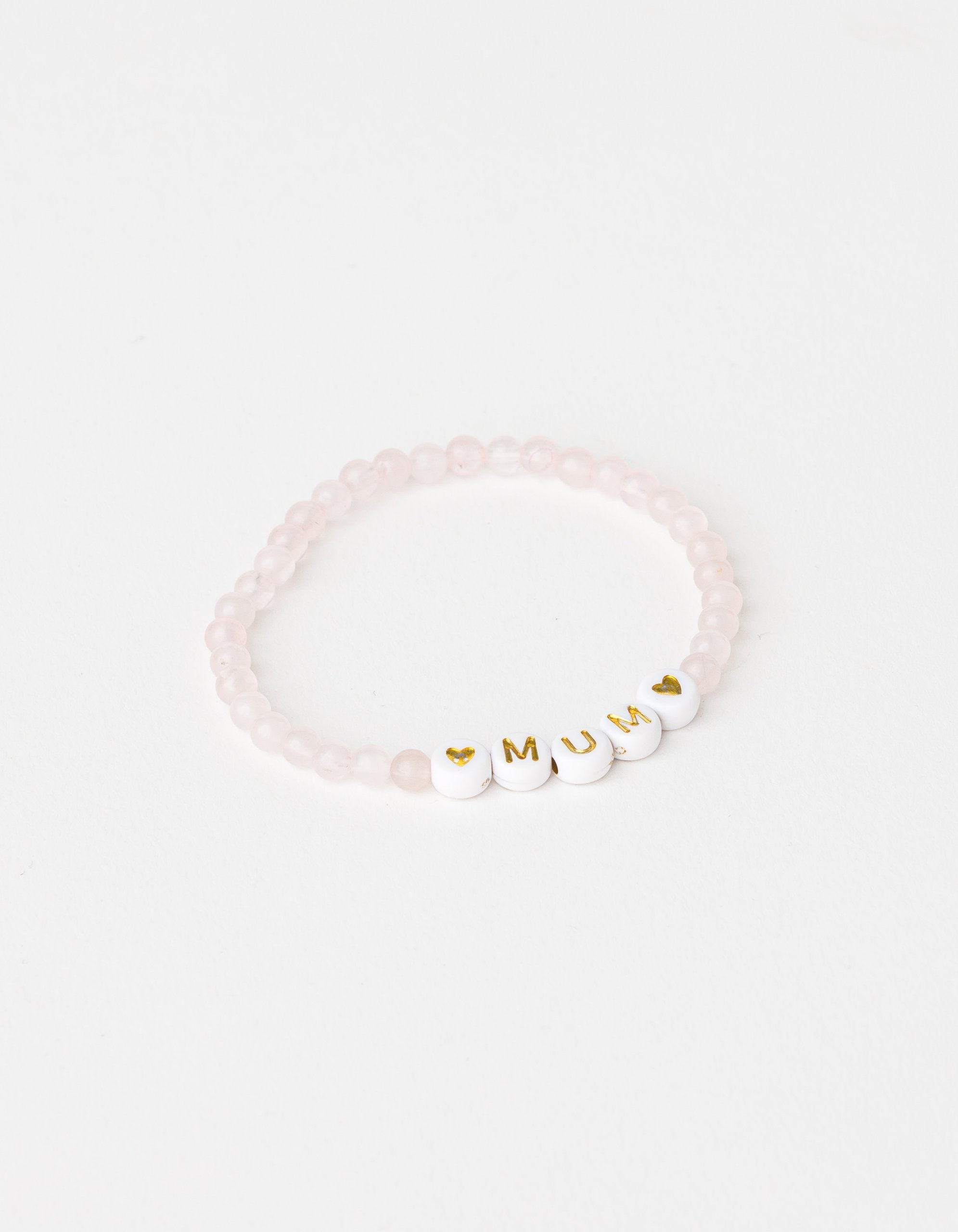ROSE QUARTZ BEAD BRACELET -MUM