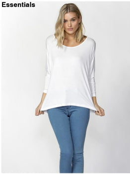 Milan 3/4 Slv Top -White White / 10