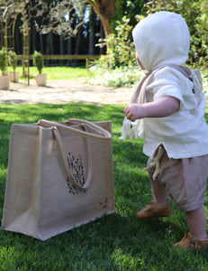 Burlap Eco Shopping Bag