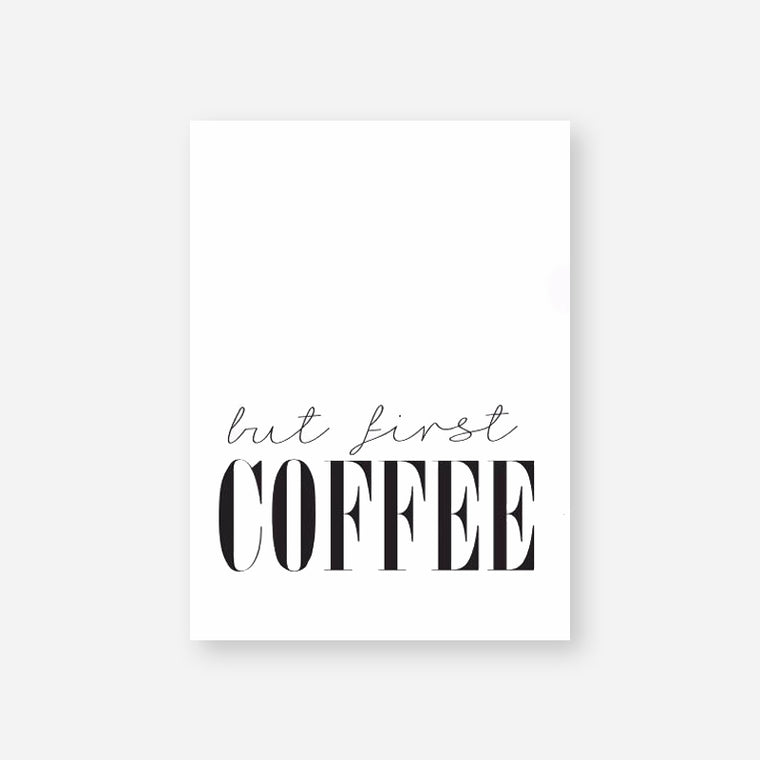But First Coffee Quote Canvas Print